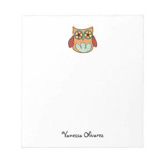 Cute Owl Custom Notepad