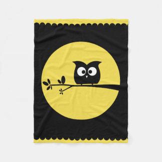 Cute Owl + customised background colours Fleece Blanket