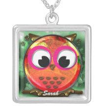 Cute owl design necklaces