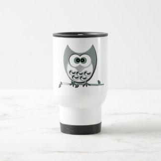 Cute Owl Design Travel Mug