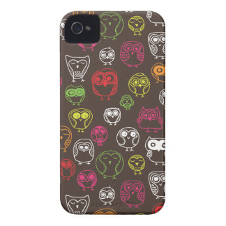 Cute owl doodle pattern iPhone 4 cover