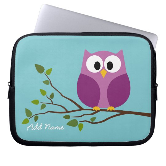 Cute Owl Drawing on a Tree Branch Laptop