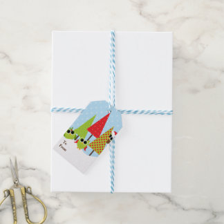 Cute Owl Family Holiday Gift Tags