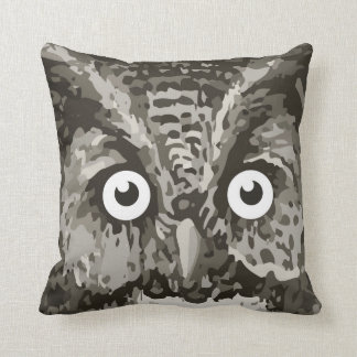Cute Owl Gray Gender Neutral New Baby's Room Cushion