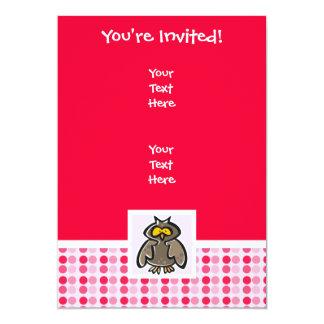 Cute Owl 13 Cm X 18 Cm Invitation Card