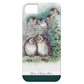 Cute Owl iPhone5 Case by Louis Wain
