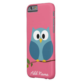 Cute Owl iphone 4 Cartoon Barely There iPhone 6 Case