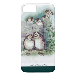 Cute Owl iPhone 7 case by Louis Wain