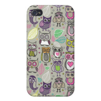 Cute owl iphone case cover for iPhone 4