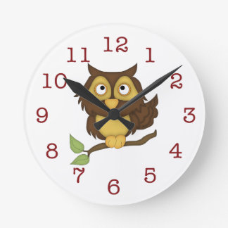 Cute Owl Kid's Wall-clock Clocks