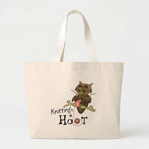 Cute Owl Knitting Bags