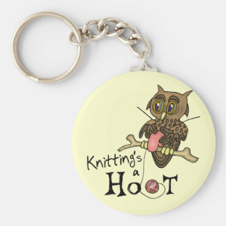 Cute Owl Knitting Keychain