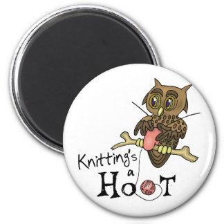 Cute Owl Knitting Fridge Magnet