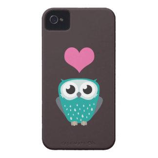 Cute Owl & Love Heart Blackberry Bold Case