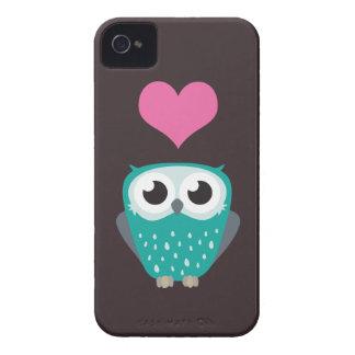 Cute Owl & Love Heart iPhone 4 Case