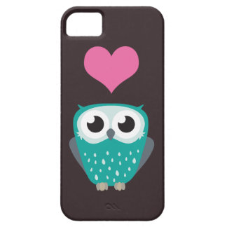 Cute Owl & Love Heart iPhone 5 Case iPhone 5 Cases