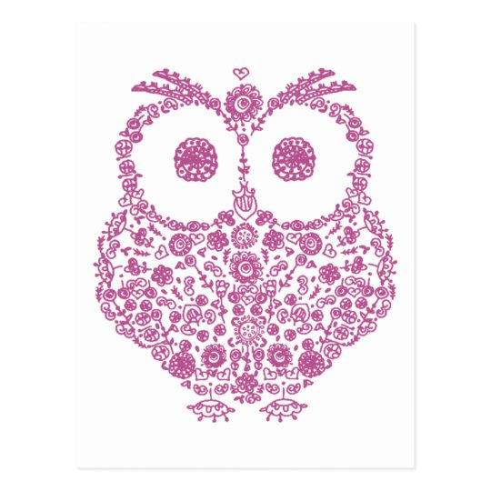 CUTE OWL LOVERS GIFT POSTCARD
