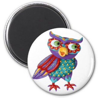 Cute Owl Refrigerator Magnet