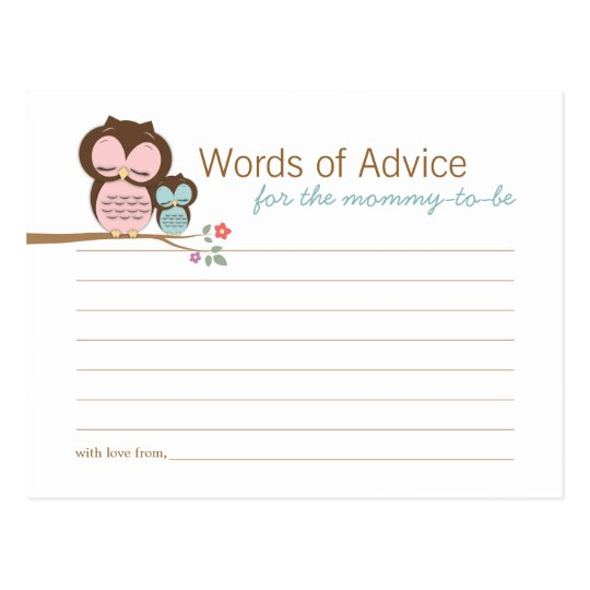 Cute Owl & Mama Words of Advice Mummy