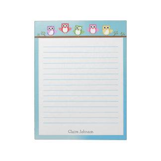 Cute Owl Notepad
