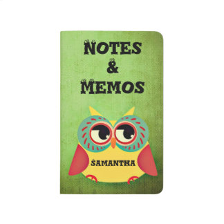 Cute Owl Notes and Memos Pocket Journal