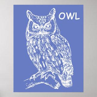 Cute Owl Nursery Wall Art