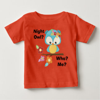 Cute Owl on Branch Baby T-Shirt
