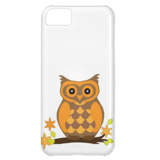 Cute Owl On Branch iPhone 5C Case