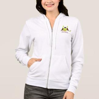 Cute Owl On Branch zip up hoody jacket