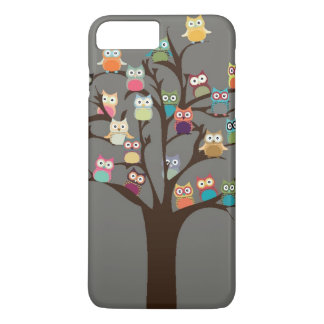 Cute Owl On Tree | Background iPhone 7 Plus Case