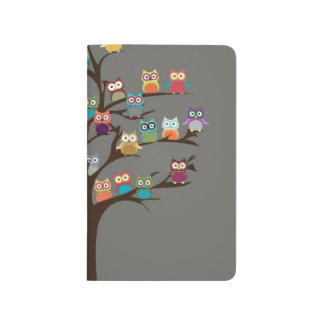 Cute Owl On Tree | Background Journals