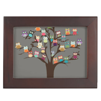 Cute Owl On Tree | Background Memory Boxes
