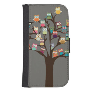 Cute Owl On Tree | Background Samsung S4 Wallet Case