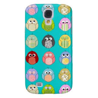 Cute Owl Pattern Galaxy S4 Case