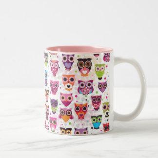Cute owl pattern mug