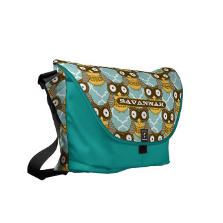 Cute Owl Pattern You Choose Colors Messenger Bags