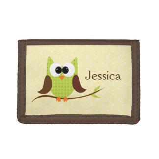 Cute Owl Personalized Girls Wallet
