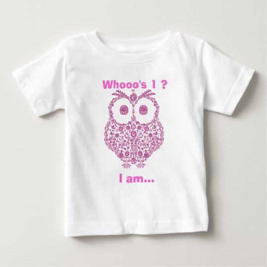 CUTE OWL PINK GIRLS First Birthday GIFT Baby