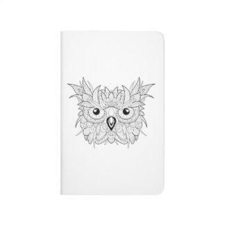 Cute Owl Portrait Doodle Journal