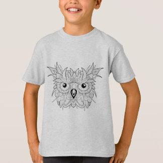 Cute Owl Portrait Doodle T-Shirt