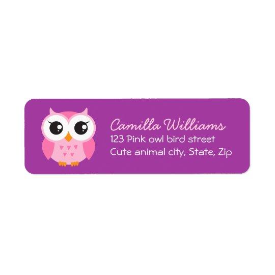 Cute owl purple