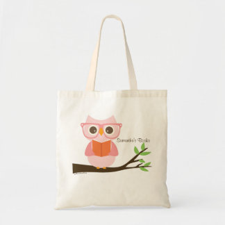Cute Owl Reading Tote Bag