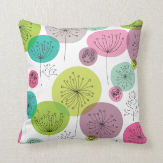 Cute owl retro pattern flower design cushion