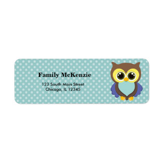 Cute Owl Return Address Label