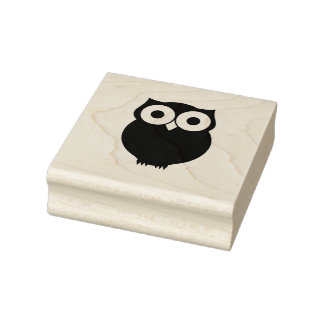 Cute Owl Rubber Stamp