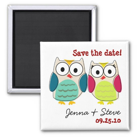 Cute Owl Save the Date Magnets