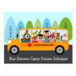 Cute Owl School Bus Driver Thank You