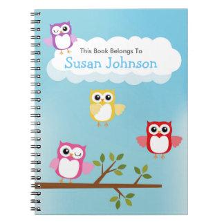Cute Owl Spiral Notebook