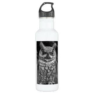 Cute Owl Statue 710 Ml Water Bottle