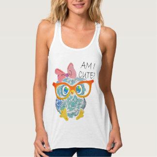 Cute Owl Tank Top